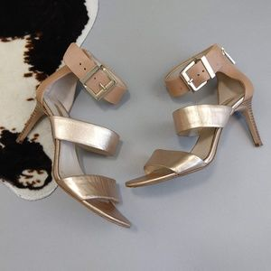 Louise et Cie Gosia Size 9.5 Rose Gold Ankle Strap